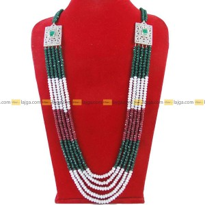 Lajga-Mix Step Brooch Five Line Necklace For Women