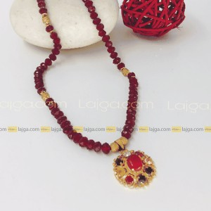 Lajga Crystal Necklace With Rose/Stone Pendent For Women