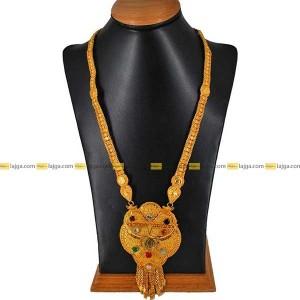 Lajga Navratna Hanging Necklace For Women