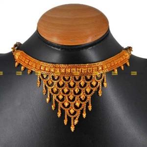 Lajga Rhombic Choker Hanging Haar Necklace For Women