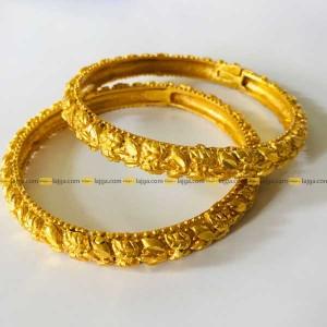 Specifications of Lajga Gold-Plated Nepali Kade Chura/bungae Bangle For women