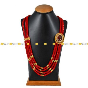 Lajga Ruby Brooch Four Line Necklace For Women