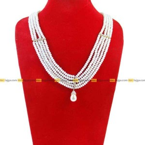 Lajga Opaque Crystal Brooch Necklace For Women