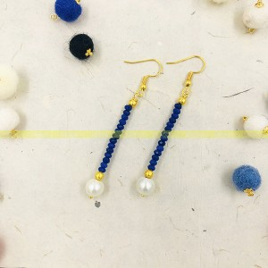 Long Pearl Beaded Earring For Women Handmade items Material: Alloy Lightweight and attractive silver color Beautiful Earrings