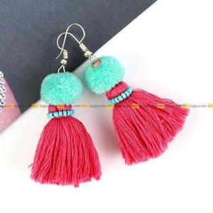 Lajga Pom-Pom Tassel Earrings For Women