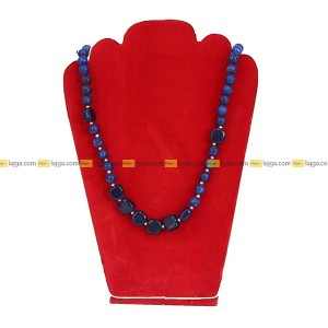Lajga Sapphire Blue German Silver Beaded Fashion Necklace For Women
