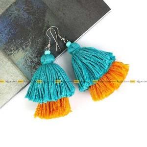 Lajga Two Layer Tassel Earrings For Women