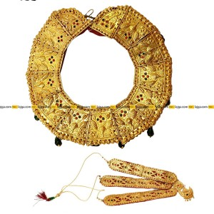 Gold Plated Tikma Necklace And Sirbindi Set For Women