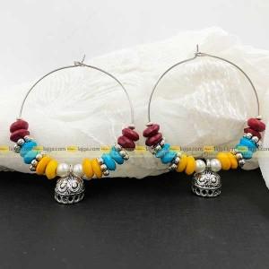 Lajga Multi Rounds Drop Earrings For Women