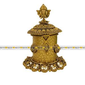 Lajga Ganesh Design Sindoor Dani Box For Women