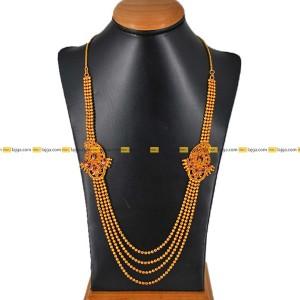 Lajga Stone Brooch Haar Four Line Necklace For Women