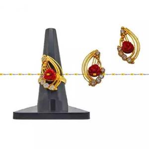 Finger Ring With Earring Set For Women