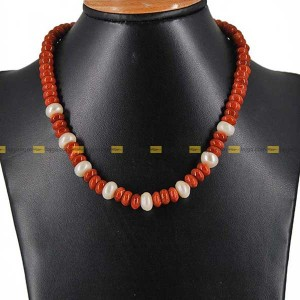 Lajga Pearl Stone Necklace For Women