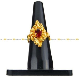 Lajga Kite Ruby / Rose Gold / Tourmaline Finger Ring For Women      Material: Brass     Lightweight and skin friendly     Style: Designed     Occasion: Daily Wear